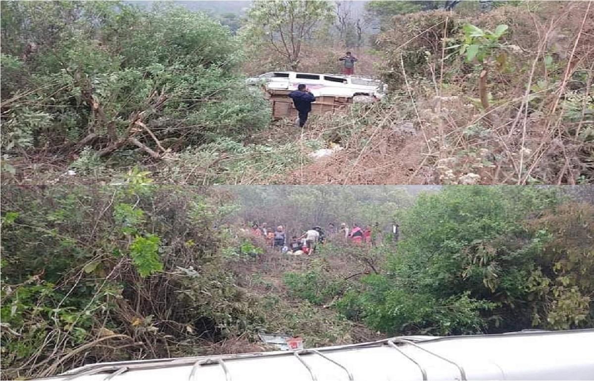 अपडेट : चापाकोटबाट काठमाडौं आउँदै गरेको बस दुर्घटना हुँदा ८ जना घाईते (नामावलीसहित)